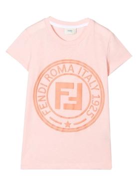 Girls pink FF logo t-shirt