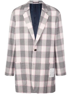 Julien David - Pink And Black Check Print Blazer - Men