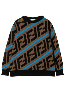 Fendi Kids - Kids Ff Logo Sweater - Kids