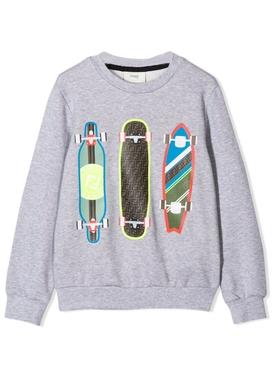 skateboard print sweatshirt