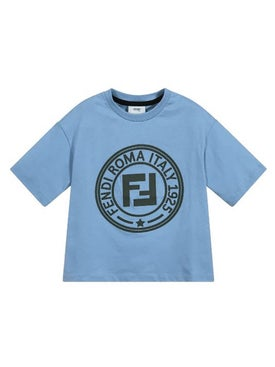 Fendi Kids - Fendi Roma Stamp Logo T-shirt 6-8 Years - Women
