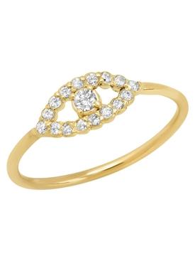 Mini open evil eye diamond ring