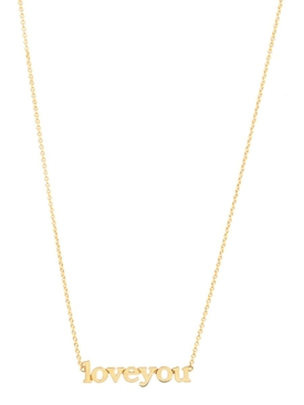18kt GOLD LOVE YOU NECKLACE