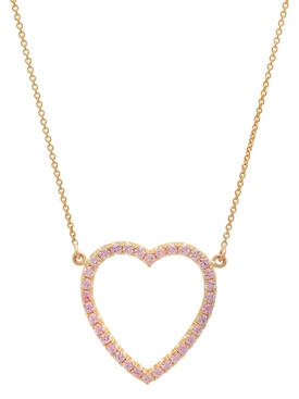 SAPPHIRE OPEN HEART NECKLACE