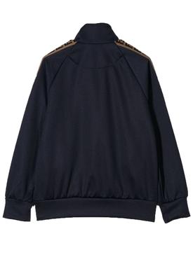 logo tape bomber jacket navy
