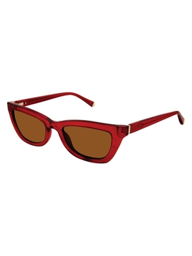 Kate Young For Tura Red Katia Sunglasses