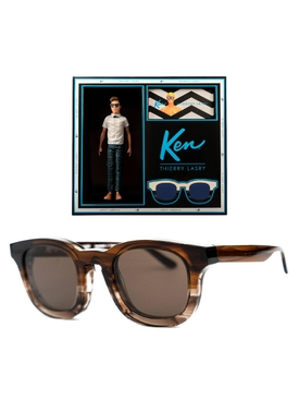 Thierry Lasry x Ken brown square sunglasses