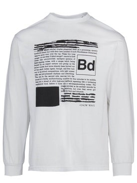 Know Wave - Black Dice Everyone's A Critic White Long Sleeve T-shirt - Long Sleeve