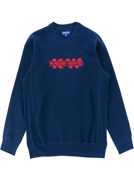 Navy blue Red Service Sector Embroidered Sweatshirt