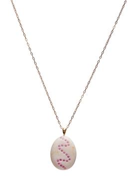 Kisses stone & sapphire necklace