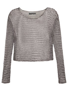 Alexachung - Mesh Metalic Top - Long Sleeved