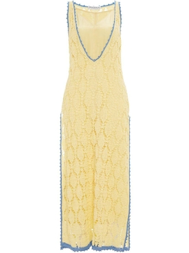 J.w. Anderson - Contrasted Seam Crochet Dress - Women