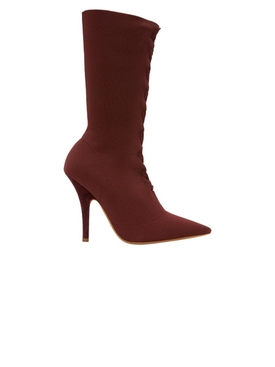 Oxblood Knit Sock Boot 110mm