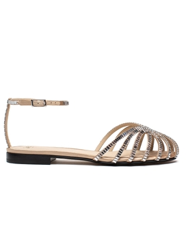 Embellished Rebecca flat sandal