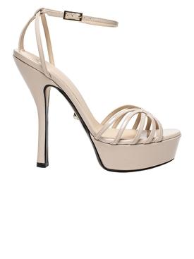 Caterina Platform Patent Sandal