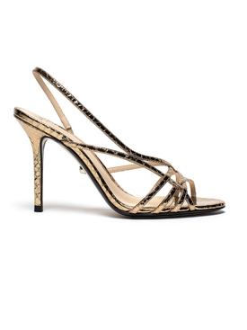 Metallic bronze Tiffany sandal