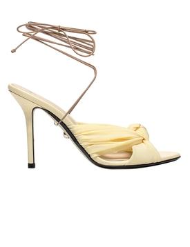 Yellow Dora Leather Sandal