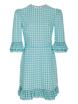 The Vampire's Wife - Mini Festival Dress Teal - Mini