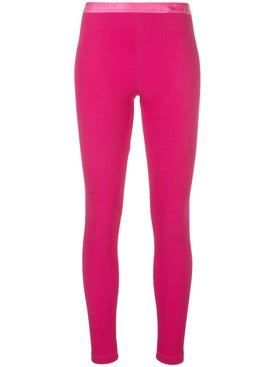 Off-white - Logo Ribbed Leggings Pink - Women