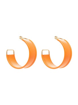 Jacquemus - Les Fauteuils Orange Leather Earrings - Women