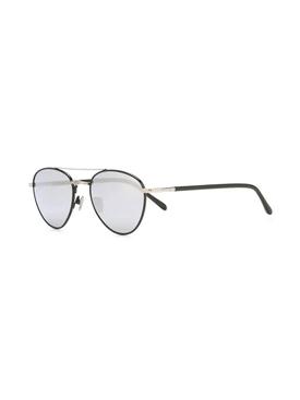black tinted aviator sunglasses