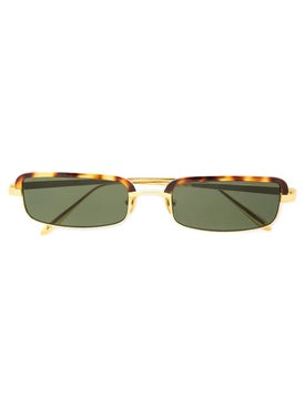 Linda Farrow - Gold Tortoise Shell Sunglasses - Women