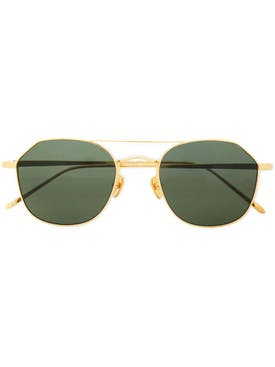 Linda Farrow - Gold Tone Aviator Sunglasses - Men