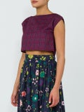 Lhd - Burgundy Bay Shore Top - Cropped