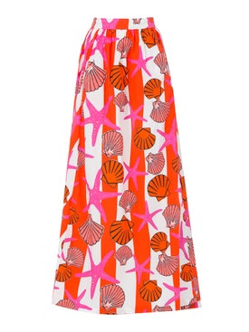 Lhd - The Delano Skirt, Red Seashells - Women