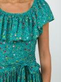 Lhd - Teal Jungle Island Dress - Women