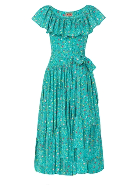Teal Jungle Island Dress