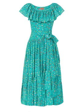 Lhd - Teal Jungle Island Dress - Women