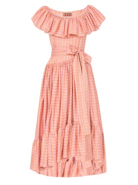 Lhd - Jungle Island Dress, Pink Pink - Mid-length
