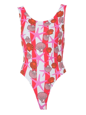 Seashells Key Biscayne Bodysuit RED