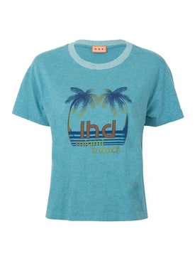 Lhd - Palm Print Tee Blue - Women