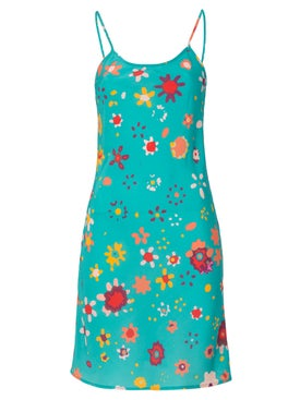 Lhd - Wynwood Slip Dress Teal - Mini