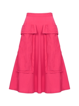 Bardot Skirt, Hot Pink