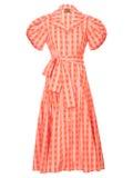 Lhd - Chateau Dress, Orange Gingham - Women