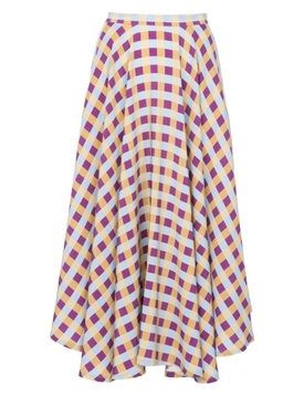 Lhd - French Riviera Skirt, Gingham - Women