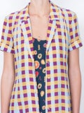 Lhd - The Marlin Dress, Gingham And Fruits - Women