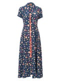 Lhd - The Marlin Dress, Fruits And Gingham - Women