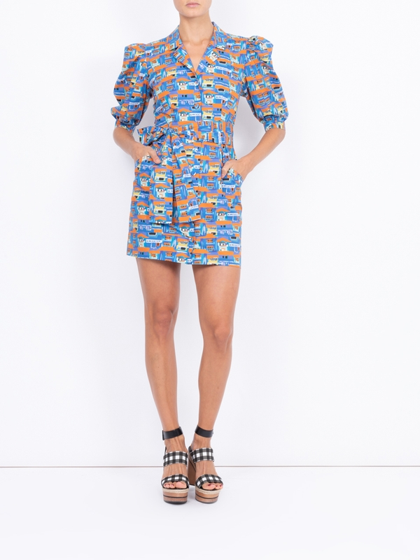 Lhd CASITAS DRESS, VILLAS PRINT BLUE