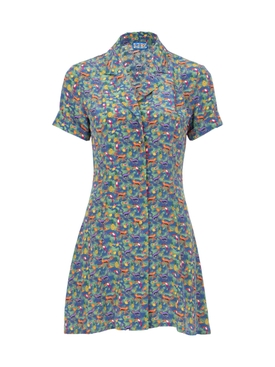 Lhd - Clemenceau Dress, Navy Quirky Print - Women