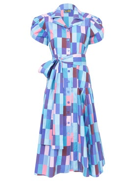 Lhd - Blue Checks Glades Dress - Women