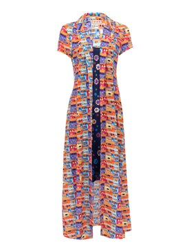 Lhd - The Marlin Dress, Villas And Floral - Mid-length