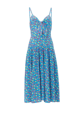 Aqua Field Flower The Adele Dress