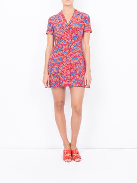 Lhd - Bright French Fig Clemenceau Dress - Women