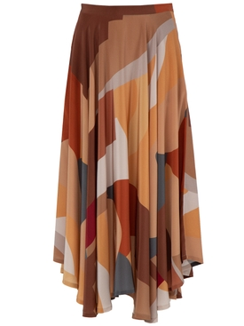 Lhd - Bonifacio Abstract French Riviera Skirt - Women