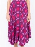 Lhd - Purple Plaid French Riviera Skirt - Women