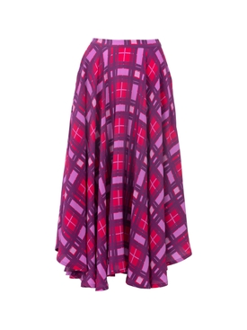 Lhd - Purple Plaid French Riviera Skirt - Women